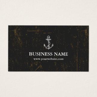 Cartes De Visite Obscurité grunge vintage d'ancre nautique