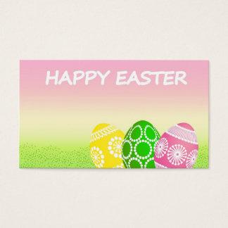 Cartes De Visite Oeufs de pâques heureux