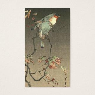 Cartes De Visite Oiseaux bleus la nuit par Seitei Watanabe 1851 -