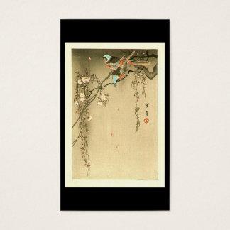 Cartes De Visite Oiseaux sur le cerisier par Seitei Watanabe 1851 -