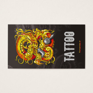 Cartes De Visite Or de dragon de Tattooer