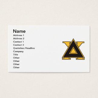 Cartes De Visite Or d'insigne de Chi de delta