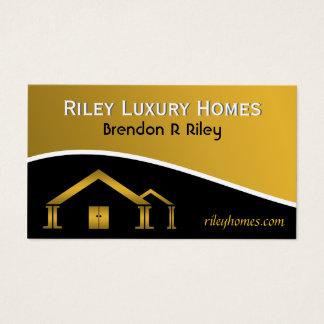 Cartes De Visite Or jaune et construction individuelle et