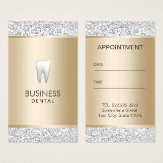 Cartes De Visite Or moderne de dentiste et rendez-vous dentaire