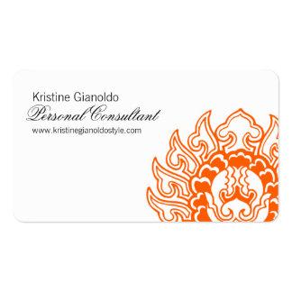 Cartes de visite oranges chics de consultant en carte de visite standard