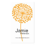 Cartes de visite oranges de verticale de fleur de  cartes de visite professionnelles