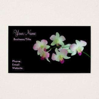 Cartes De Visite Orchidées sur le noir