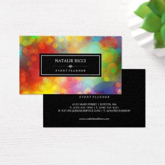 Cartes De Visite Organisateur coloré de Bokeh