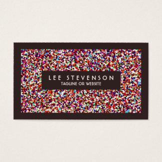 Cartes De Visite Organisateur coloré joyeux de confettis