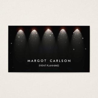 Cartes De Visite Organisateur et étoiles et lumières de