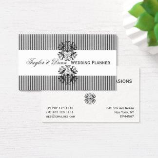 Cartes De Visite Organisateur mémorable de motif fleuri d'emblème