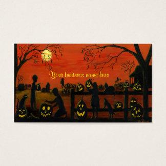 Cartes de visite orientés de Halloween