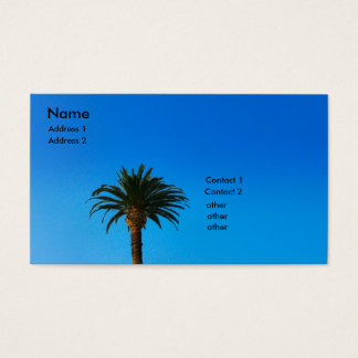 Cartes De Visite palmier