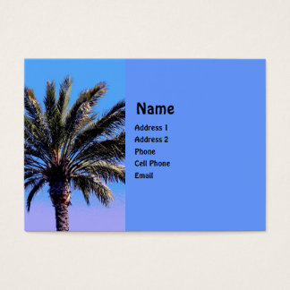Cartes De Visite palmier tropical