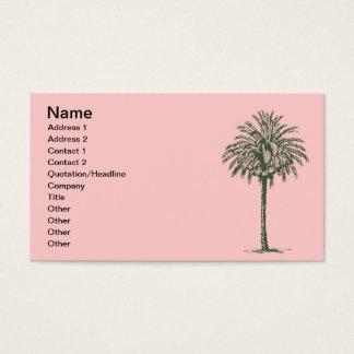 Cartes De Visite Palmier vert
