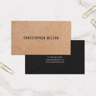 Cartes De Visite Papier d'emballage IMPRIMÉ par noir élégant