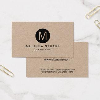 Cartes De Visite Papier d'emballage minimaliste moderne de