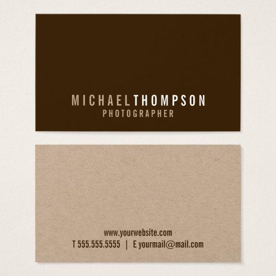 Cartes De Visite Papier d'emballage minimaliste professionnel
