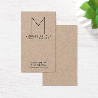 Cartes De Visite Papier d'emballage professionnel de monogramme