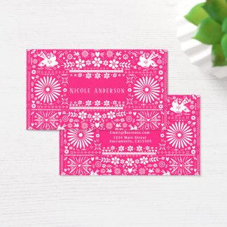 Cartes De Visite Papier Papel de coupe de roses indien de Picado de
