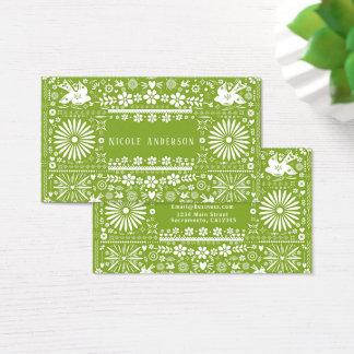 Cartes De Visite Papier Papel de coupe de vert d'avocat de chaux de