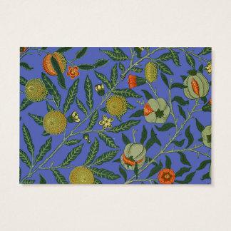 Cartes De Visite Papier peint botanique vintage de motif de grenade