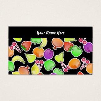 Cartes De Visite Papier peint fruité, votre nom ici