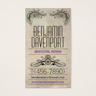 Cartes De Visite Papier porté rustique - pourpre