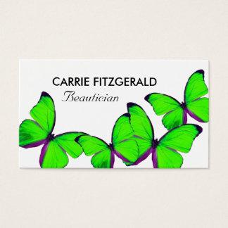 Cartes De Visite Papillons de vert de chaux, esthéticien