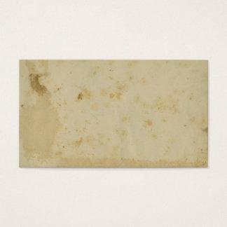 Cartes De Visite Parchemin d'années 1870 souillé par antiquité vide