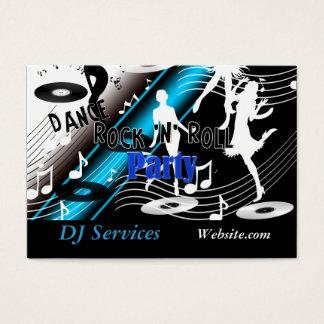 Cartes De Visite Partie de musique de danse de jockey de disque du