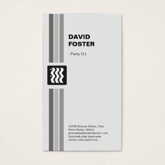 Cartes De Visite Partie DJ - Blanc noir moderne