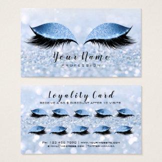 Cartes De Visite Parties scintillantes bleues de mèches de