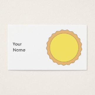 Cartes De Visite Pâtisserie de tarte de citron. Jaune ensoleillé
