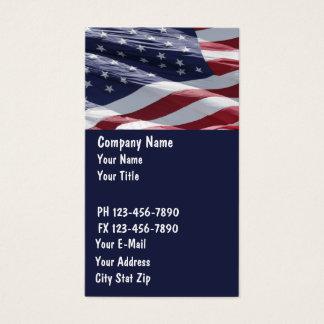 Cartes de visite patriotiques