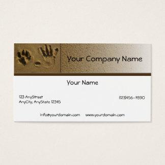 Cartes De Visite Patte de chien de meilleurs amis et copie de main