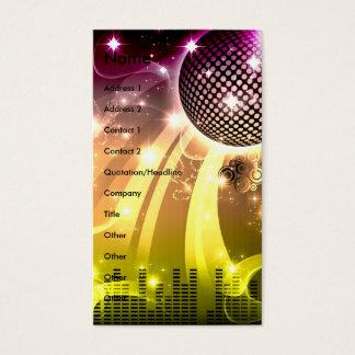 Cartes De Visite paysage urbain de disco