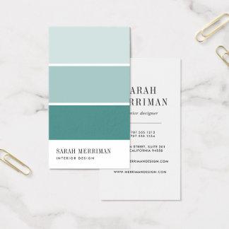 Cartes De Visite Peignez le dessinateur d'intérieurs de couleur
