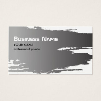 Cartes De Visite Peintre élégant professionnel d'argent de Faux