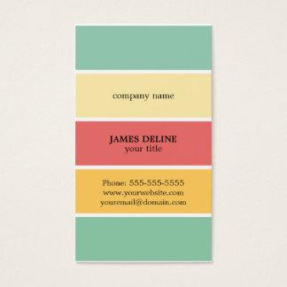 Cartes De Visite Peintre professionnel rayé coloré frais