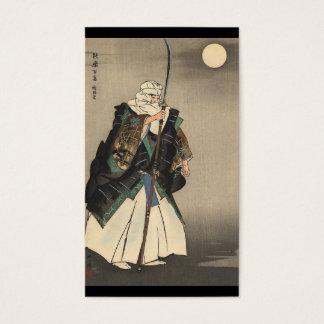 Cartes De Visite Peinture japonaise de guerrier. Circa 1922