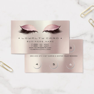 Cartes De Visite Perle rose d'or de maquillage de salon de beauté