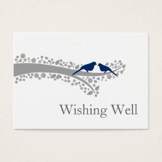 Cartes De Visite perruches fantaisies de bleu marine d'arbre