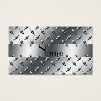 Cartes De Visite Personnalisé avec du votre acier nommé de plat de