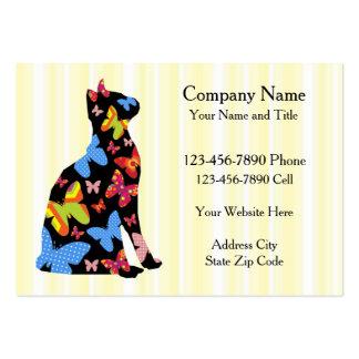 Cartes de visite personnalisés de chat de papillon carte de visite grand format
