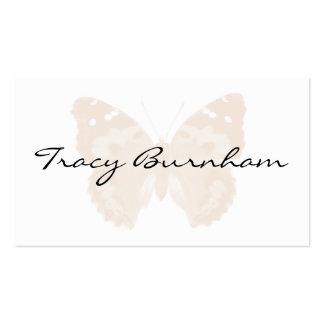 Cartes de visite personnalisés par papillon beige cartes de visite professionnelles