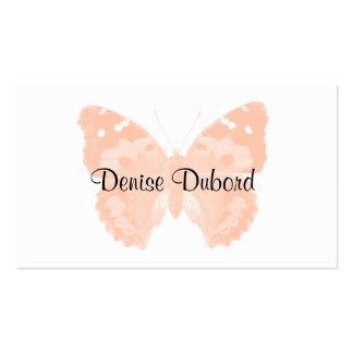Cartes de visite personnalisés par papillon de pêc modèle de carte de visite