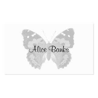 Cartes de visite personnalisés par papillon gris cartes de visite professionnelles