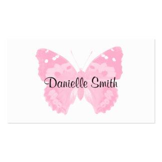 Cartes de visite personnalisés par papillon rose
