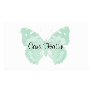 Cartes de visite personnalisés par papillon vert e cartes de visite personnelles